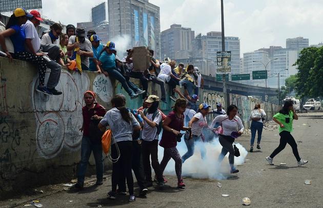 Multitudinaria manifestación en contra de Maduro en Venezuela.