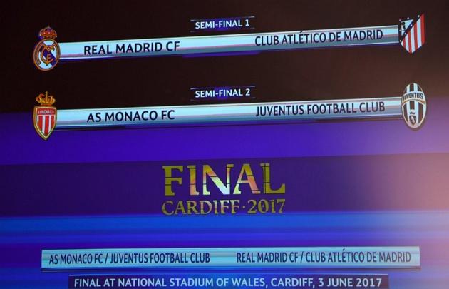 Los cruces en semifinales por la Champions.