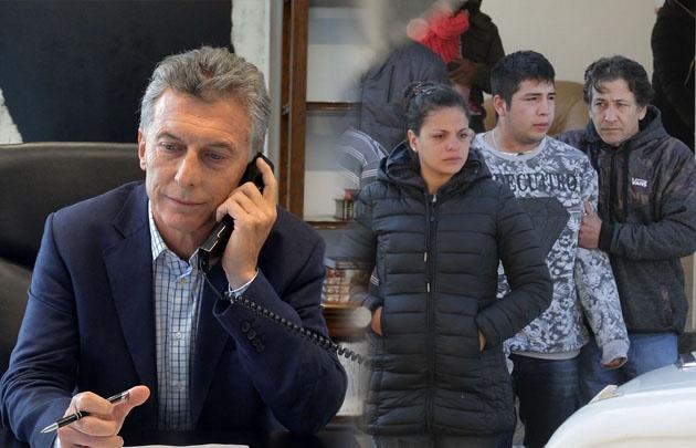 Macri se solidarizó con la familia Balbo.