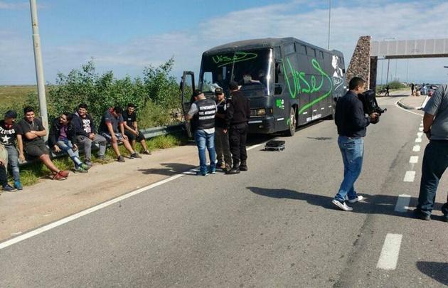 Los policías hallaron cocaína y marihuana en el colectivo de Ulises Bueno.