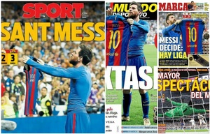 Messi invadió las tapas de los diarios españoles.