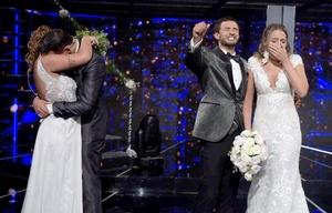 Así fue el casamiento en vivo de Facundo y Paula.