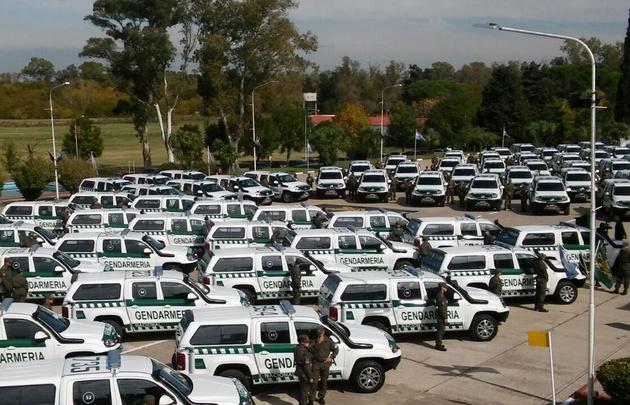 Patricia Bullrich entregó vehículos a Gendarmería nacional