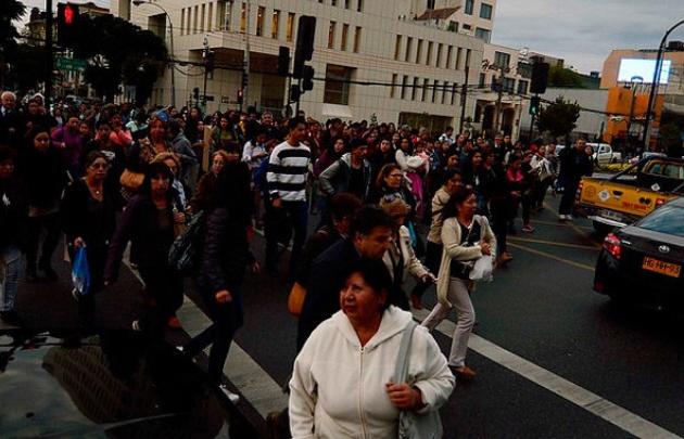 Fuerte sismo sacudió al centro de Chile (Foto: La Tercera).