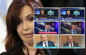 Los zócalos de TV alterados por CFK.