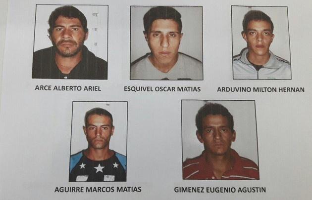 Los presos que escaparon de la comisaría 5ª.
