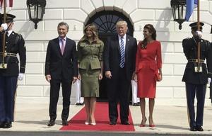 Histórico encuentro entre Macri y Trump.