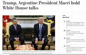 Así tituló The Washington Post la reunión entre Macri y Trump.