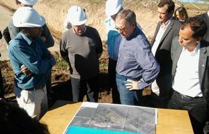 Schiaretti visitó la nueva planta cloacal de Río Cuarto.