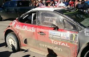 Meeke tuvo un paso accidentando por el Rally Argentina.