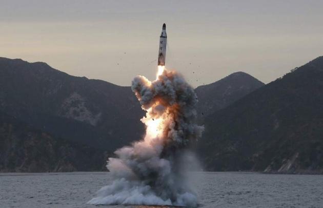 Frustrado lanzamiento de un misil por parte de Corea del Norte.