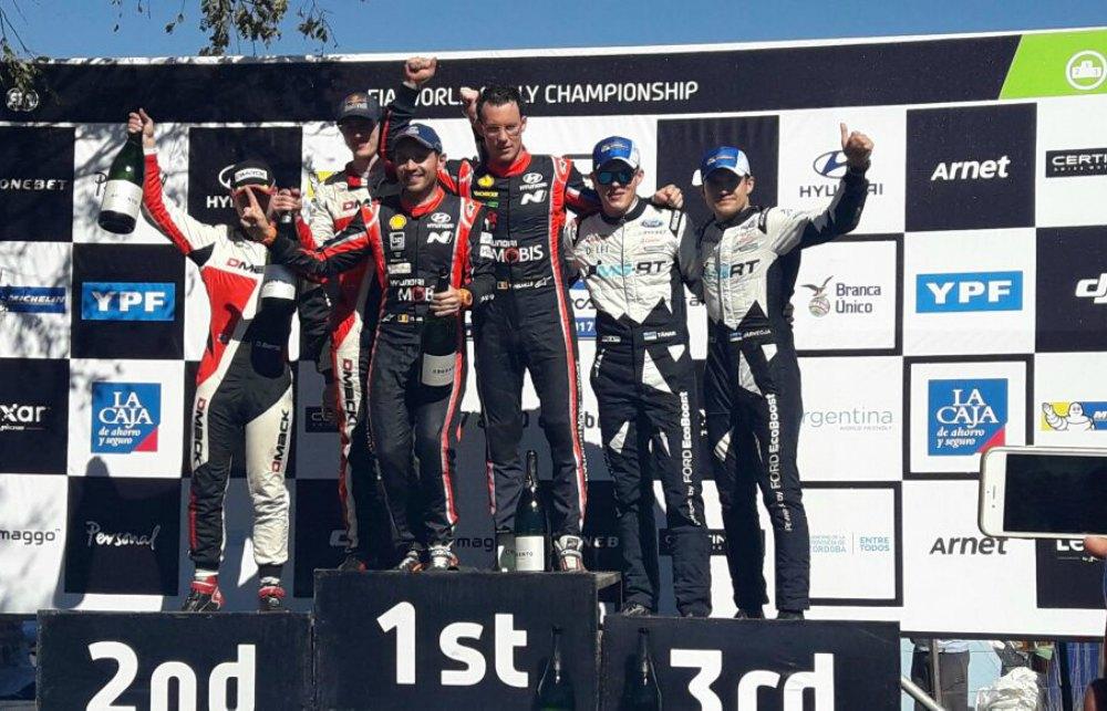 Resultado de imagen de podium rally argentina