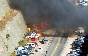 Los autos fueron quemados de forma intencional.
