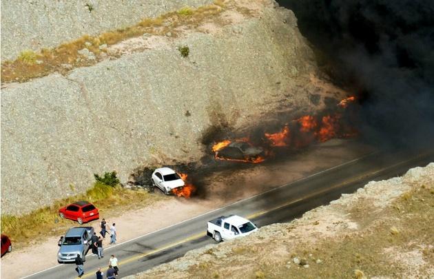 La fiscal indicó que los vehículos incendiados son 15.