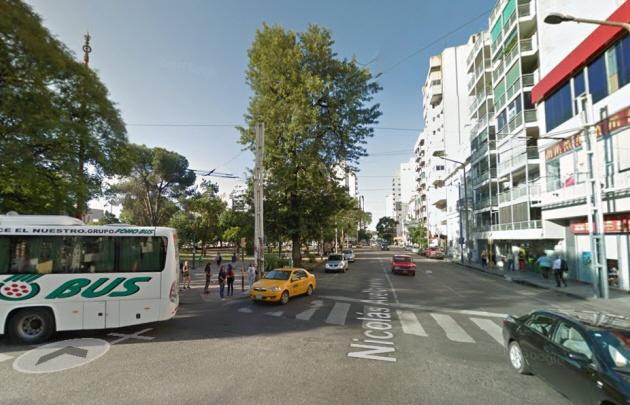 El incidente habría comenzado en la intersección de avenida Colón y Avellaneda.