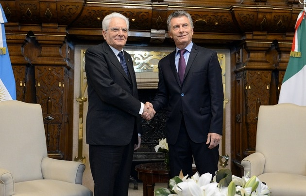 Mattarella y Macri en la Casa Rosada