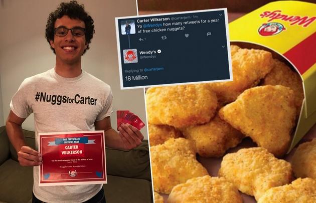 Carter Wilkerson es el autor del tuit más retuiteado de la historia.