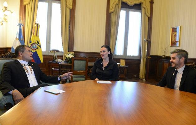 Rafael Correa se reunió con la vicepresidenta Argentina.
