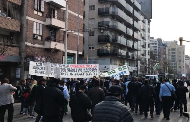 Los choferes marcharon por las calles de Córdoba