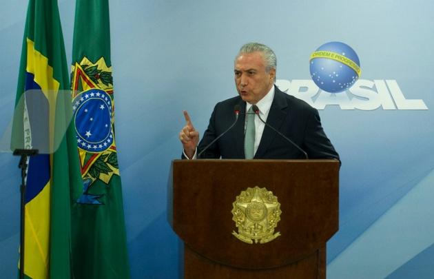 El mandatario brasileño, Michel Temer, aseguró que no renunciará.