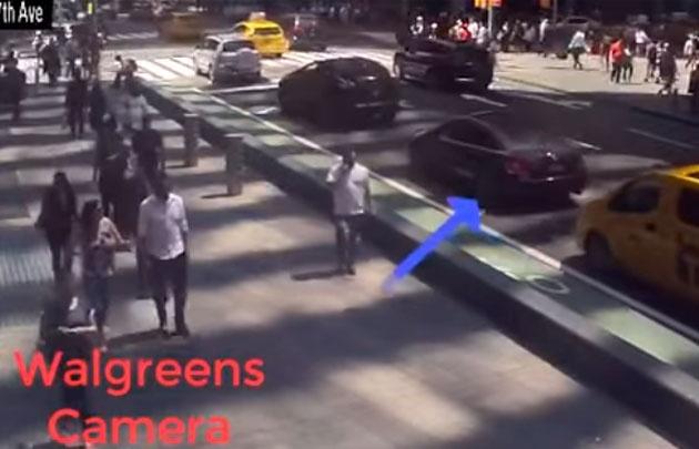 Cámaras de seguridad captan el auto que atropelló a personas en Time Square