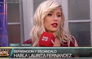 Habló Laurita Fernández tras el escándalo de su separación