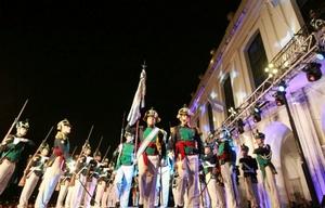 La tradicional ceremonia castrense dio inicio formal al Día de la Patria.