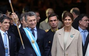 Macri y Awada en el Tedéum.
