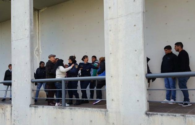 Familiares de Sapito y Balbo se enfrentaron en Tribunales (Foto: @roxicanal12)