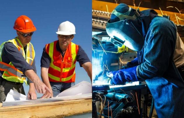La construcción sube mientras la industria sigue cayendo.