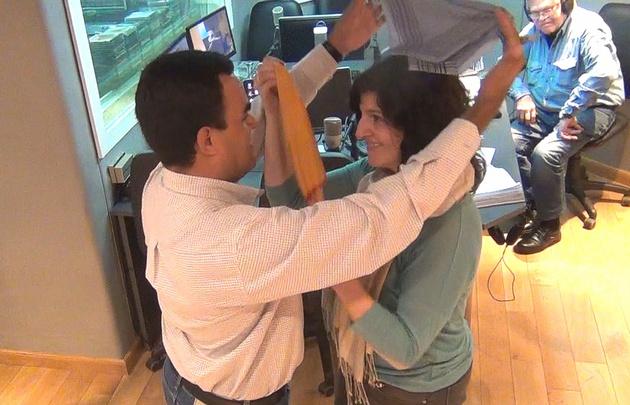 Daniela Tony y Sergio Castellanos bailaron