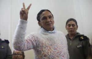Milagro Sala, en el penal de Jujuy.