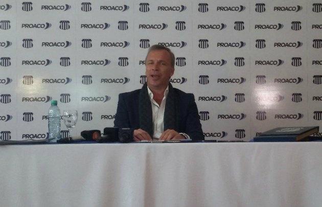 Andrés Fassi brindó una conferencia de prensa en el Sheraton Córdoba Hotel.