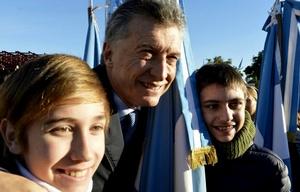 Macri en el acto del Día de la Bandera