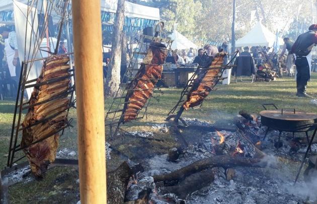 Los festejos por el Día de la Bandera continuó en el predio de los asadores en Rosario