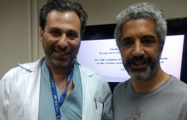 Fernando Genesir en el Ziv Medical Center con el Dr. Roisentul.