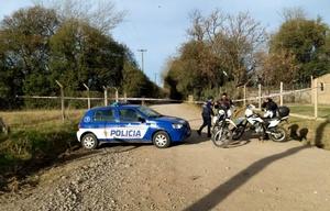 La Policía valló el lugar donde se encontró el cuerpo.