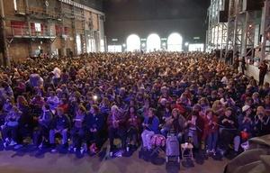 Campaña de la Frazada 2017 en Plaza de la Música.