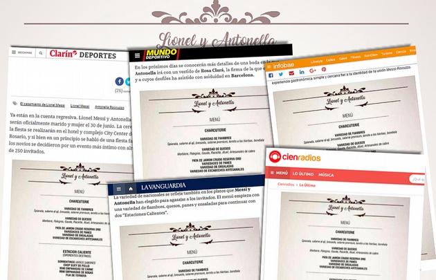Los medios levantaron la carta del menú que publicó Cadena 3.