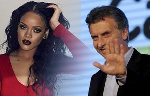 Macri le respondió a Rihanna.