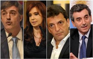Bullrich, Cristina, Massa y Randazzo buscarán ser senadores por Buenos Aires.