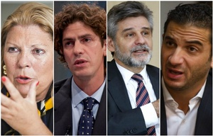 Carrió, Lousteau, Filmus y Tombolini, los principales candidatos por Capital Federal.