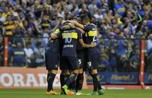 Boca le ganó a Unión y festejó ante su gente.
