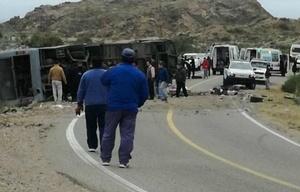 El accidente se produjo en una zona sinuosa de montaña (Foto: gentileza de MDZ).