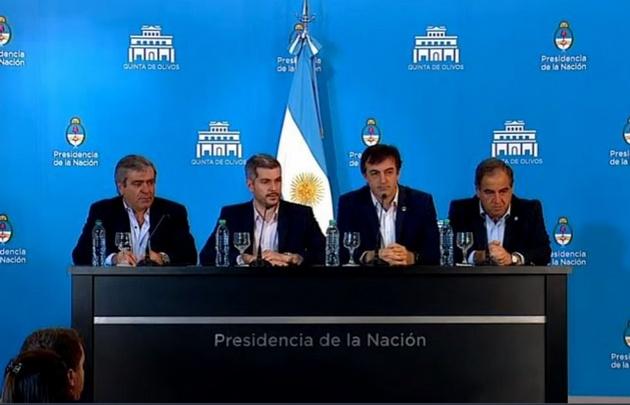 Cano, Peña, Bullrich y Martínez.