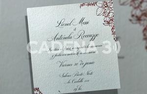 La tarjeta de invitación de la boda de Lio y Antonela.