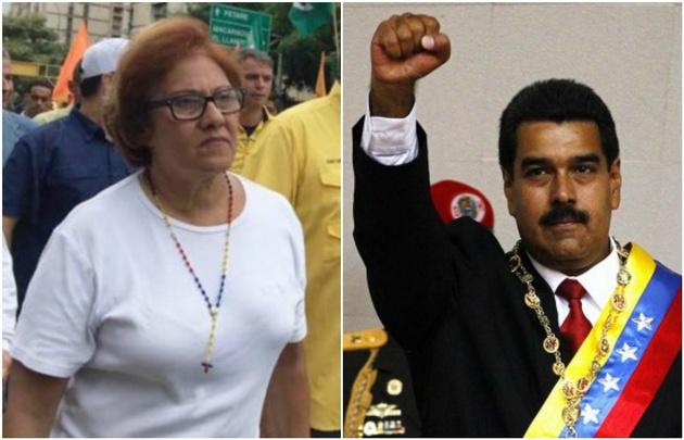 Helen Fernández, alcaldesa de Caracas, y Nicolás Maduro, presidente venezolano.