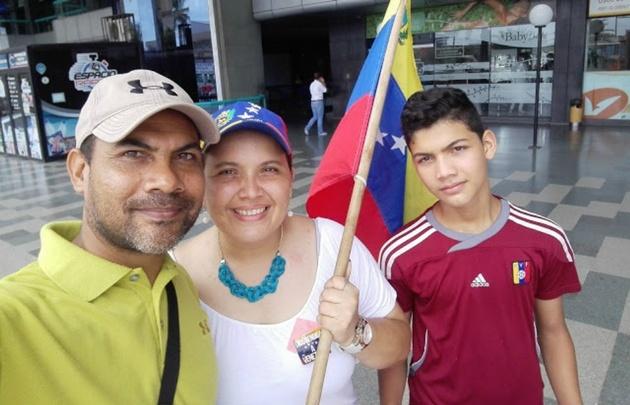 Wilmer Mesia y su familia eligieron radicarse en Córdoba.