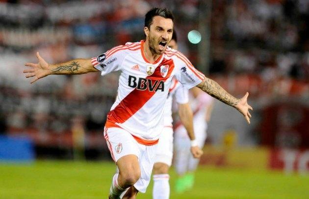 Scocco debutó semanas atrás en River con un gol ante Guaraní.