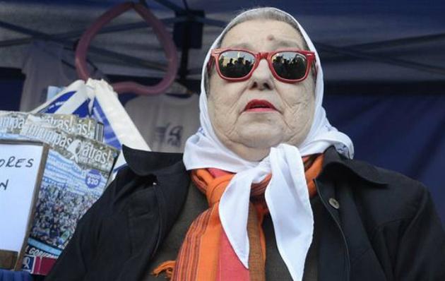 Hebe participó en una ronda de Madres en Plaza de Mayo (Foto de archivo)